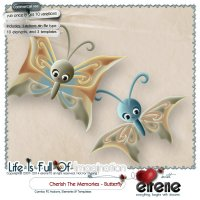 Cherish The Memories Butterfly Combo: Actions, Templates & Embellishments