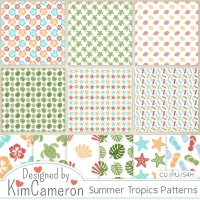 Summer Tropics Patterns by Kim Cameron
