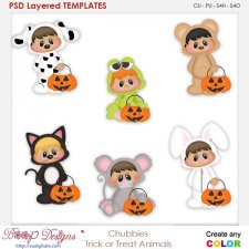 Chubbies Children Trick Or Treat Element Templates