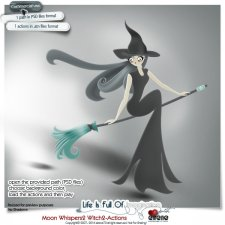 Moon Whispers2Actions-Witch2 by Eirene Designs