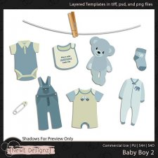 EXCLUSIVE Layered Baby Boy Templates Set 2 by NewE Designz