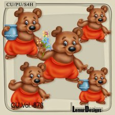 CU Vol 878 Bear by Lemur Designs