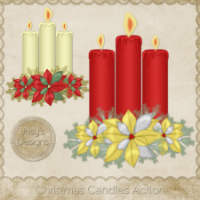 Christmas Candles 1 Photoshop Action by Josy