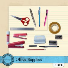 Office Supplies kit CU4CU by Happy Scrap Art