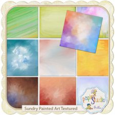 Sundry Painted Art Textured by Papierstudio Silke