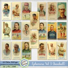 Ephemera Vol 3 {vintage baseball}