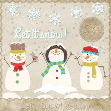 Let It Snow Layered Vector Templates by Josy