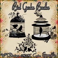 WTD Bird Garden PS Brushes and Png files