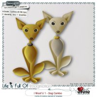 I Woof U 1-Dog Combo: Actions, Templates & Embellishments