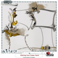 Witching Hour Cluster Frame Combo: Templates & Embellishments