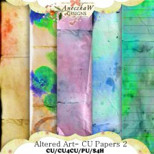 Altered Art- Papers 2 by AneczkaW