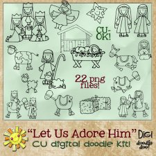 Christmas - Nativity themed - CU doodle Kit