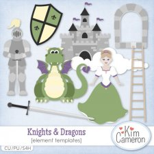 Knights & Dragons Templates by Kim Cameron