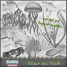 Under the Sea Templates CU4CU by Scrap and Tubes