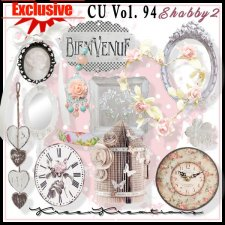 EXCLUSIVE Shabby Element Mix 2 by Kreen Kreations