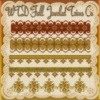 WTD Fall Jeweled Trims Cu