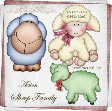 Action - Sheep Family by Rose.li