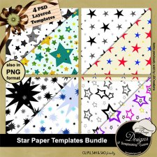 Star Paper TEMPLATE BUNDLE by Boop Designs