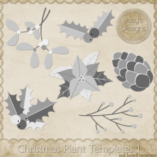Christmas Plant Layered Templates 1 by Josy