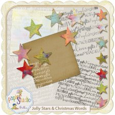 Jolly Stars and Christmas Words EXCLUSIVE by PapierStudio Silke