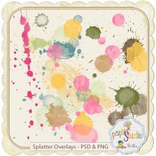 Splatter Overlays PSD & PNG EXCLUSIVE by PapierStudio Silke
