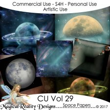 Space Papers - CU Vol 29 by MagicalReality Designs