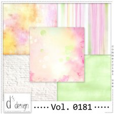 Vol. 0180 to 0182 Spring Papers by Doudou Design