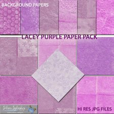 EXCLUSIVE Lacey Purple Papers by Silver Splashes