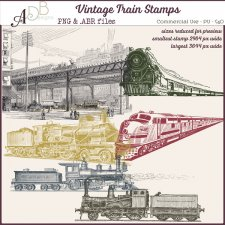 Vintage Train Stamps - Brushes by ADB Designs