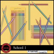 School 1 elements by Happy Scrap Art