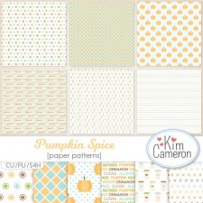 Pumpkin Spice Pattern Layered Templates by Kim Cameron