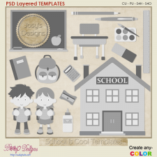 School's Cool Layered Templates by Josy