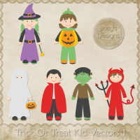 JC Trick Or Treat Kid Vectors