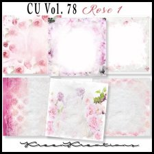 CU Vol. 78 Papers Pack Rose 1 by Kreen Kreations