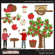 EXCLUSIVE Layered Apple Orchard Templates by NewE Designz