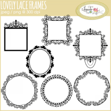 Lace frame clipart