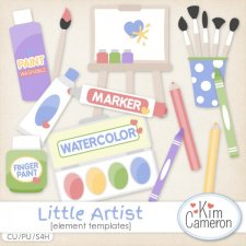 Little Artist Templates by Kim Cameron