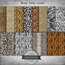 Wild thing paper by Graphic Creations