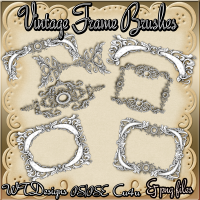 WTD Vintage Frame Brushes Cu PS/PSE Png Files