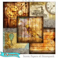 Scenic Papers 16 Steampunk by Kastagnette