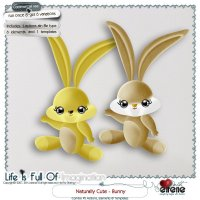 Naturally Cute 02-Bunny Combo: Actions, Templates & Embellishments