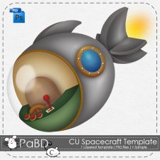 Spacecraft Template by Peek a Boo Designs