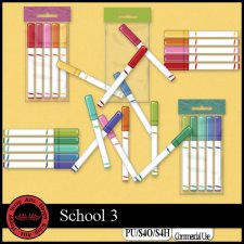 School 3 elements by Happy Scrap Art