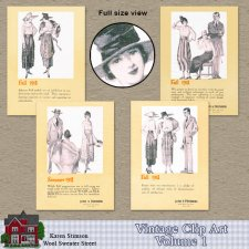 Vintage Clipart, Vol.1 by Karen Stimson