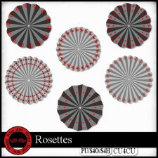 Rosettes templates (CU4CU/FS) by Happy Scrap Arts