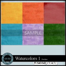 EXCLUSIVE Watercolors Overlays CU4CU by Happy Scrap Arts