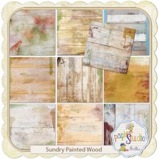 Sundry Painted Wood Texture EXCLUSIVE by PapierStudio Silke