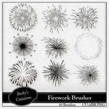 Fireworks Brushes - PNG by Becky Creations