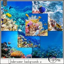 Underwater backgrounds 2 by Cajoline-Scrap