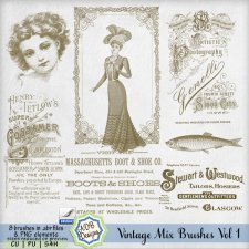 Vintage Mix Brushes Vol 1 by ADB Designs
